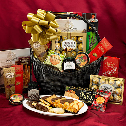 how to make chocolate gift baskets at home
